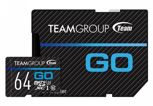 TEAM GO micro SDXC 64 GB UHS-I U3 Class 10 ( R90/W45MB/с) с адаптером (TGUSDX64GU303)