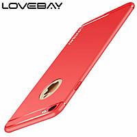 Защитный оригинальный силиконовый TPU чехол для смартфона Apple iPhone6/6s/6+/6s+/7/8/7+/8+ Lovebay (красный)