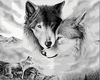 Картина по номерам «Волки» (40*50 см) , фото 1