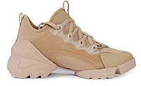 Женские кроссовки Dior D-Connect Beige (кристиан диор, бежевые)
