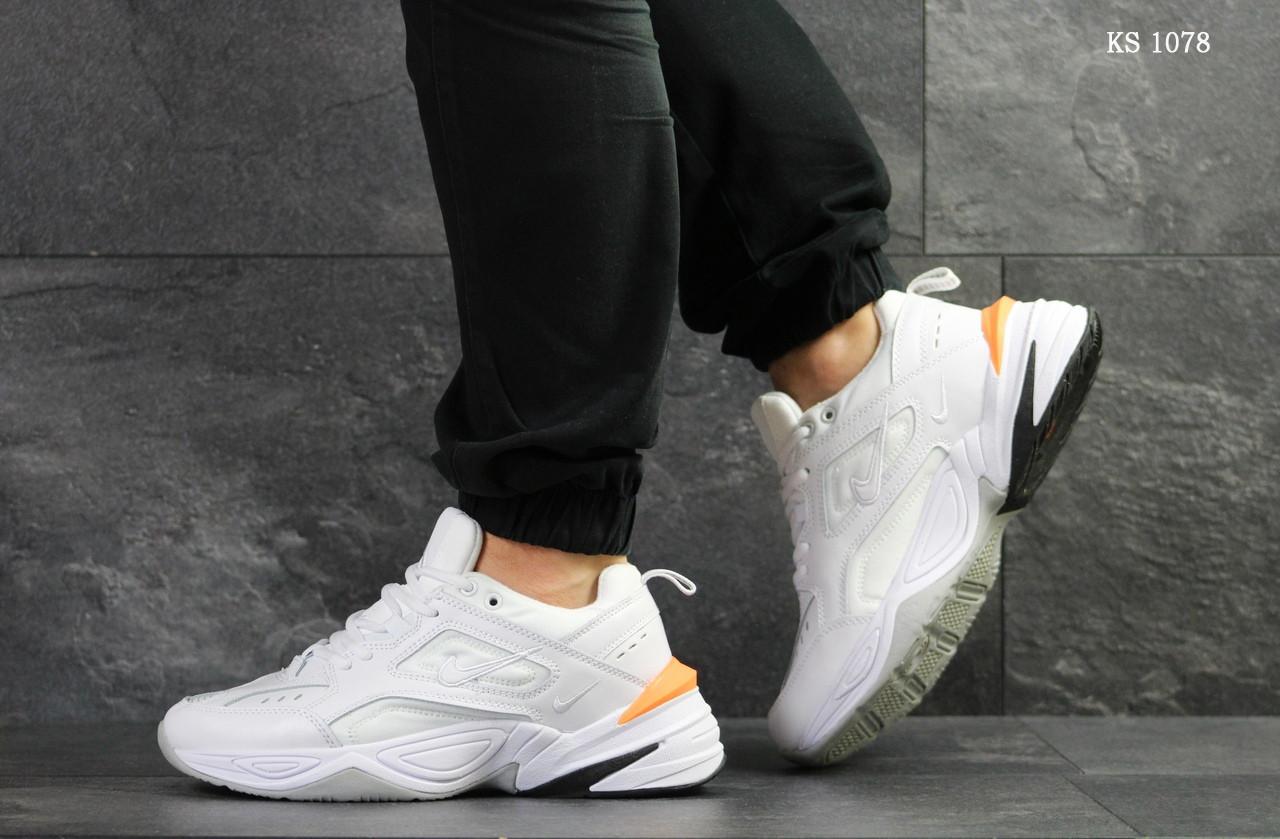 Мужские кроссовки Nike M2K Tekno (бело/оранжевые)