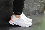 Мужские кроссовки Nike M2K Tekno (бело/оранжевые), фото 3