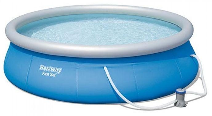 Надувной бассейн с фильтрующим насосом Bestway 396 х 84 см  (57321)