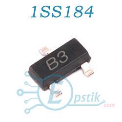 1SS184, (B3), диод ультрабыстрый, 80В, 100мА, SOT23