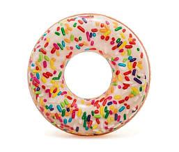 """Круг Intex 56263 NP """"Пончик с присыпкой"""", от 14 лет, диаметр 114 см"""