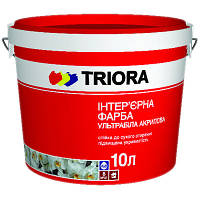 Краска Triora Интерьерная ультрабелая 10 л