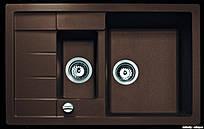 Гранитная мойка для кухни Adamant ANILA PLUS 780х500х200 (разные цвета)