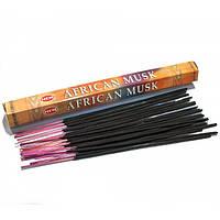 Благовония African musk HEM 20шт/уп. Аромапалочки Африканский Муск шестигранник