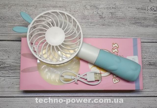 Ручной мини-вентилятор на аккумуляторе Princess Rabbit