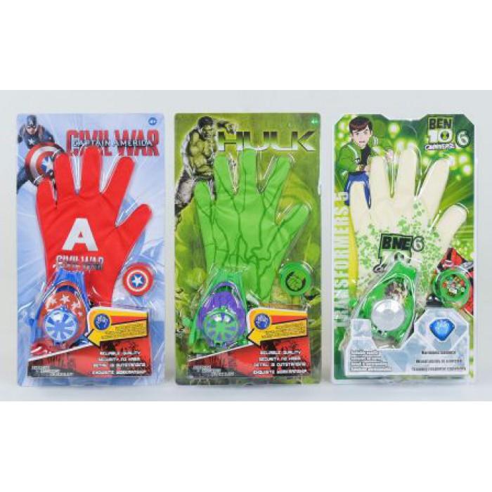 """Детский игровой набор """"Перчатка Супергероя"""" 3 вида"""