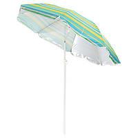 Пляжный зонт с наклоном 180см, солнцезащитный зонт с креплением спиц Ромашка и УФ защитой