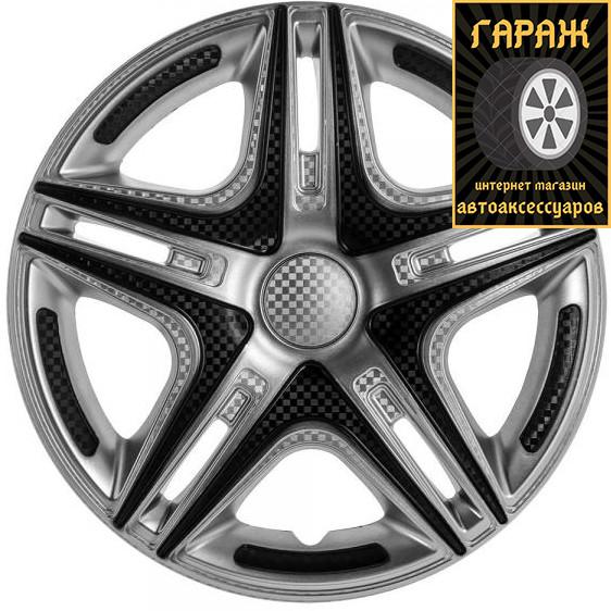 Колпаки R16 Star Дакар Super Silver карбон 2шт Газель - Плоская - Зад