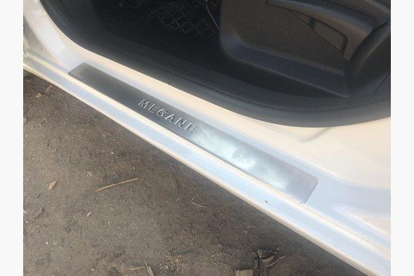 Накладки на пороги OmsaLine (4 шт, нерж) Renault Megane III 2009-2016 гг.