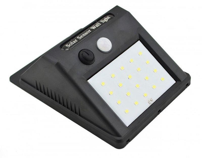Вуличний ліхтар з датчиком руху на сонячній батареї 609-20, black