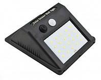 Вуличний ліхтар з датчиком руху на сонячній батареї 609-20, black, фото 1