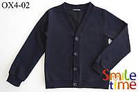 Пуловер (кофта) для мальчика на пуговицах р.122,128,134,140,146,152158,164 SmileTime, темно-синий ШК