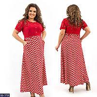 Стильное платье    (размеры 50-58)  0183-72