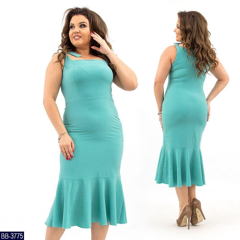 Стильное платье    (размеры 52-58)  0183-76