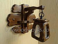 Светильник из дерева ручной работы. Бра под старину.