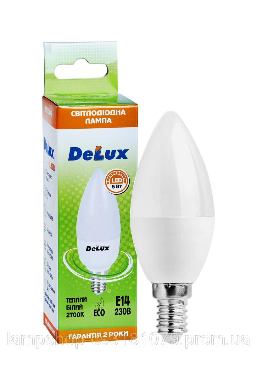 Лампа светодиодная DELUX BL37B 5 Вт 2700K 220В E14 теплый белый