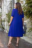 Нарядное женское платье с пришивной накидкой  Размер 56,58,60,62, фото 4