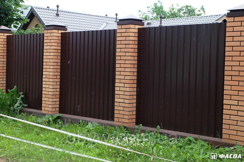 Установка заборів з профнастилу під ключ