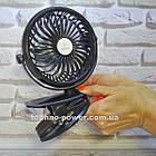 Портативный мини вентилятор REMAX F2 на прищепке. Аккумуляторный вентилятор с прищепкой, фото 3