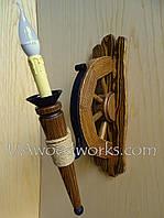 Светильник ручной работы из дерева. Деревянный светильник.