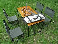 """Складной набор мебели для пикника № 4 """" ( Стол+4 стула + универсальный набор шампуров)"""