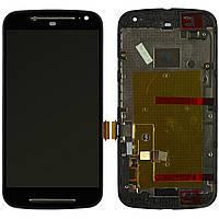 Модуль (дисплей + сенсор) Motorola XT1062 Moto G2 / XT1063 / XT1064/XT1068 + Touchscreen With Frame Orig Black