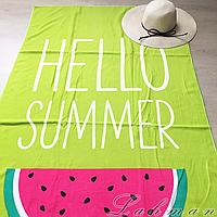 Коврик - полотенце пляжное, размер 85х170 см., покрывало для пляжного отдыха Арбуз