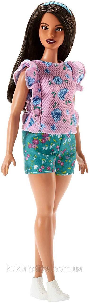 Кукла Барби модница с цветочным принтом