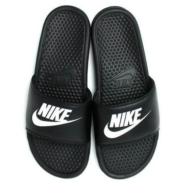 Шлепанцы Nike Benassi JDI Black White черные