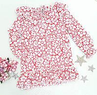Дитяча блуза в квіточку на дівчинку р. 116-128
