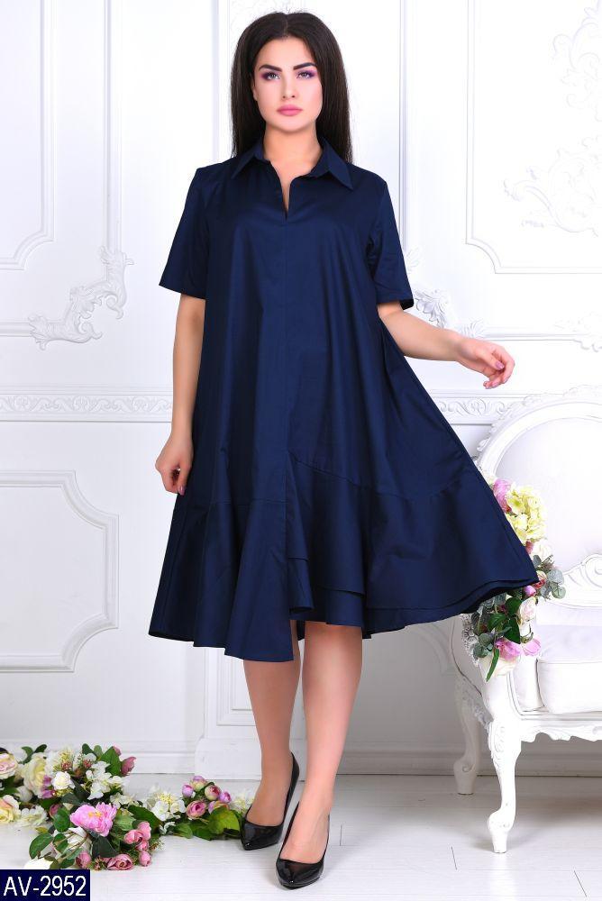 Стильное платье    (размеры 46-60)  0183-99