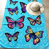 Коврик - полотенце пляжное 85х170 см., покрывало для пляжного отдыха Бабочка