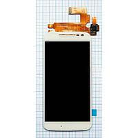 Модуль (дисплей + сенсор) Motorola XT1620 Moto G4/XT1621/XT1622/XT1624/XT1625/XT1626 + Touchscreen White