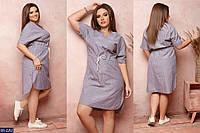 Стильное платье    (размеры 48-58)  0184-10, фото 1