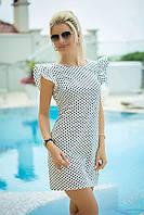 Платье в горошек летнее белое, фото 1
