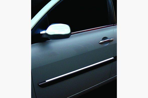 Молдинг дверной узкий 2006-2010 (4 шт, нерж) Renault Megane II 2004-2009 гг.