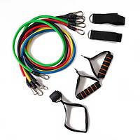 Набор эспандеров многофункциональный 5 жгутов Power Bands в чехле