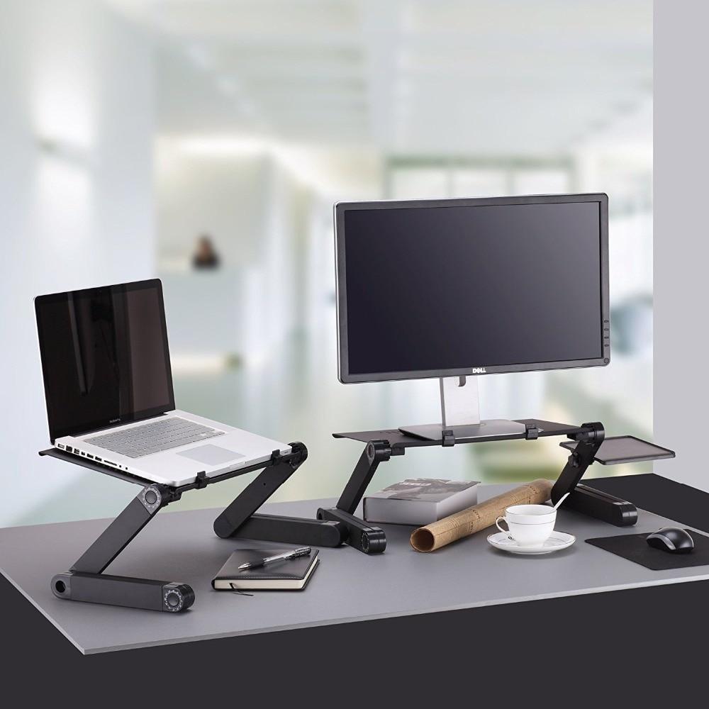 Столик трансформер для ноутбука Laptop Table T8, подставка для ноутбука с кулером на кровать