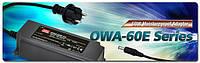 Компания Mean Well анонсировала выпуск влагозащитных адаптеров для наружного применения  серии OWA-60E мощностью 60Вт.