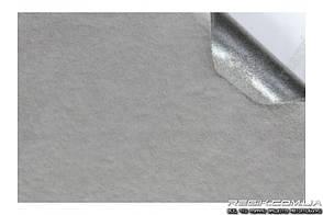 Алькантара самоклеющаяся Decoin (Корея) на поролоне (3мм), светло-серый 145x10 см