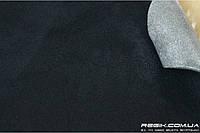 Алькантара самоклеющаяся Decoin (Корея) на поролоне (3мм), черный 145x10 см