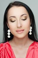 Очаровательная и нежная Ольга с сережечками Белые розочки