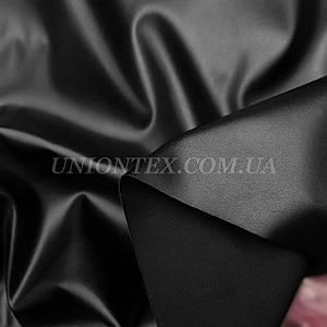 Ткань искусственная стрейч кожа черная