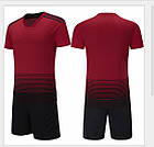 Футбольная форма ElitSport Milan (черная/красная), фото 2