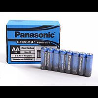 Батарейки пальчиковые Panasonic R6 АА, 1.5V, упаковка 8 шт, батарейки Panasonic, батареи, Батарея АА, батареи и аккумуляторы