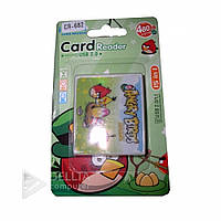 Картридер CR-682 (CR-04) Angry birds YC21- YC24, поддержка карт micro-SD/ SD/ mini-SD/ M2/ MMC/ Micro-MMC/ MS-Pro, Cardreader